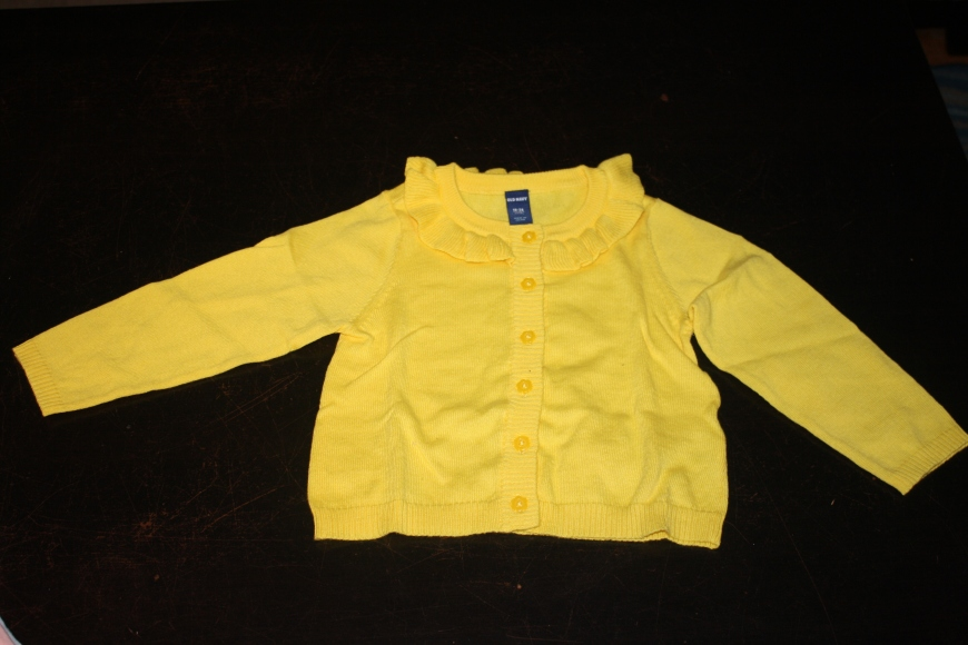 A new cardigan! Seriously, is there anything cuter than a baby in a cardigan?